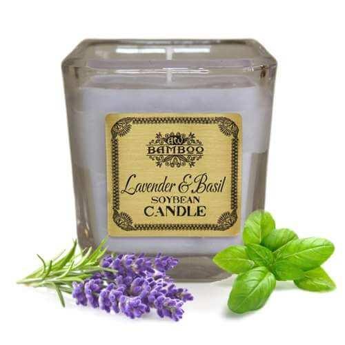 soy wax jar candle - lavender & basil