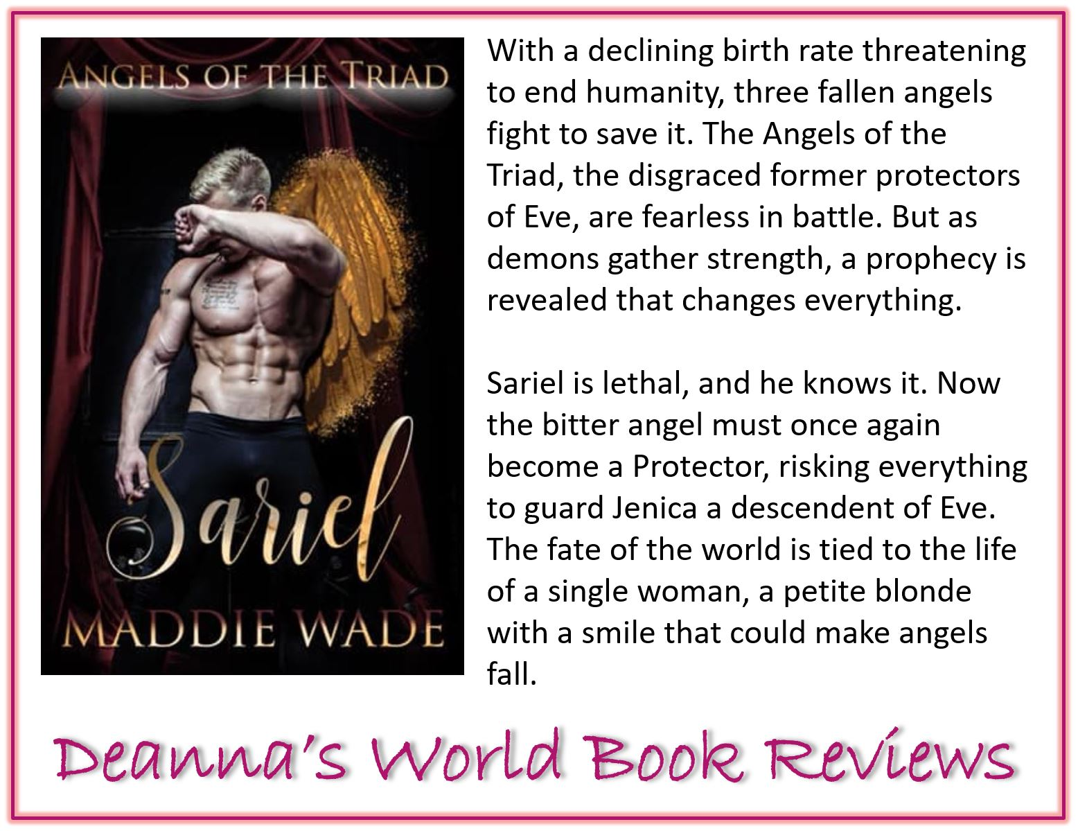 Angels of the Triad Sariel by Maddie Wade blurb
