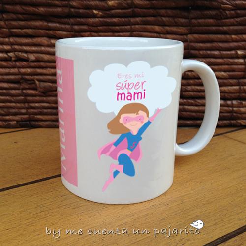 Taza personalizada de súper mamá, para el día de la madre