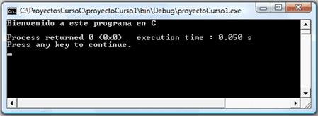 ventana de consola codeblocks c