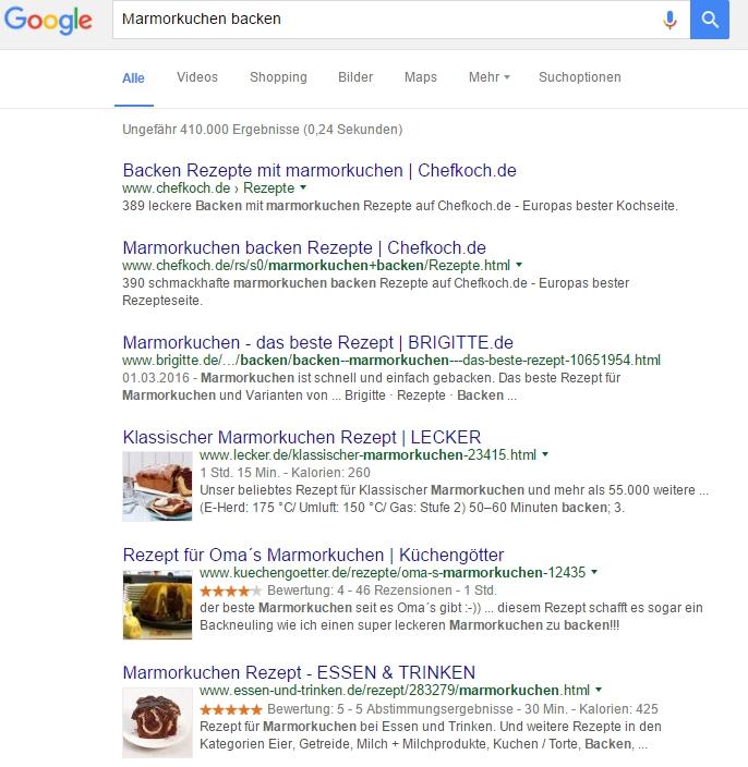 Google liefert zu vielen Begriffen tausende Treffer. Das macht den Wechsel bei massiver Werbung sehr einfach.
