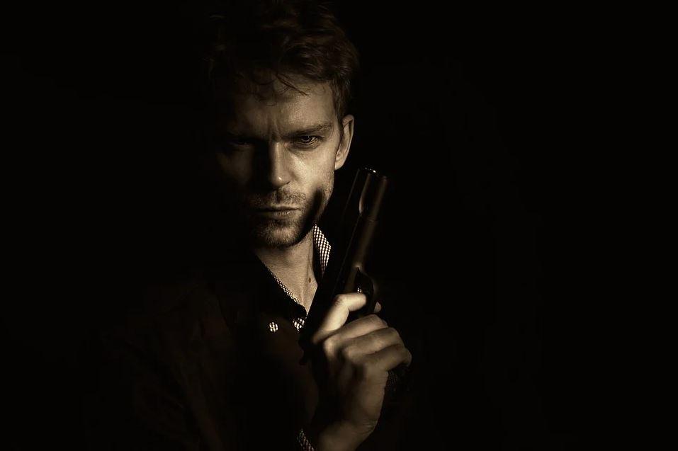 Man with gun