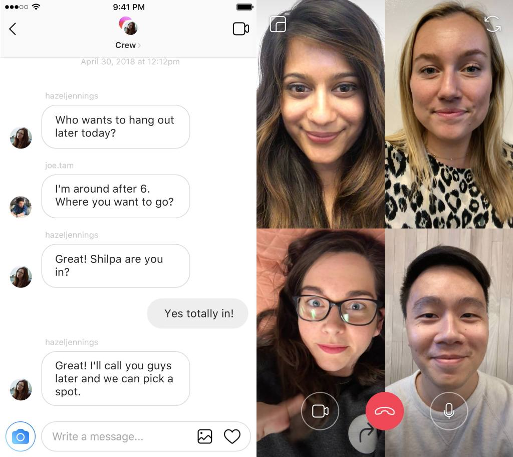 instagram video chat