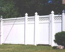 Image vinyl privacy fence