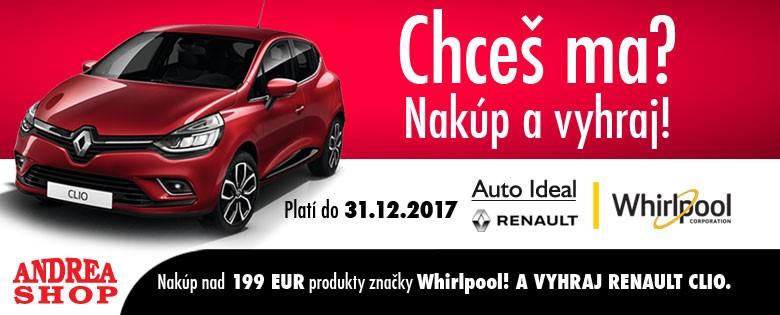 Nakúp v Andreashope a vyhraj Renault Clio!