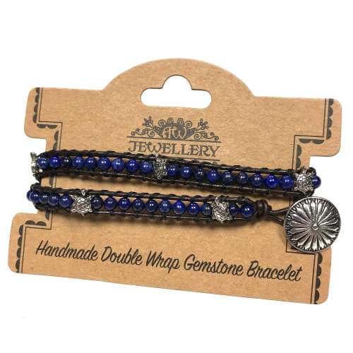 double wrap bracelets - turtles with lapis