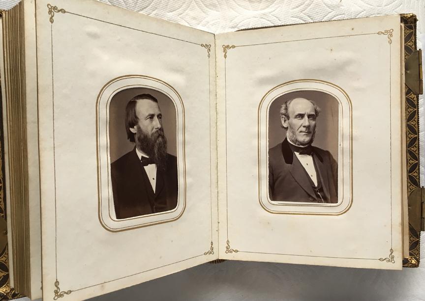 For sale: 1870 Massachusetts Senate CDV photograph               album.
