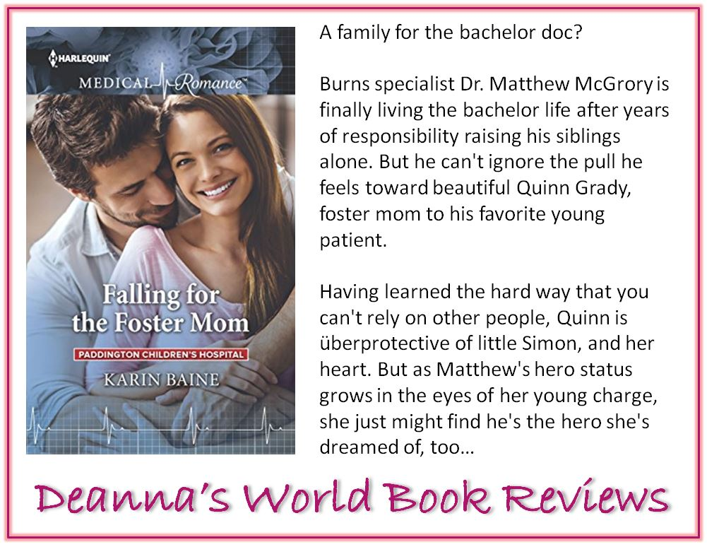 Falling For The Foster Mom by Karin Baine blurb