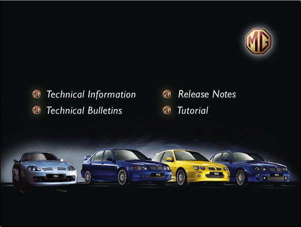 MG Rover Rave Workshop Technical Menu