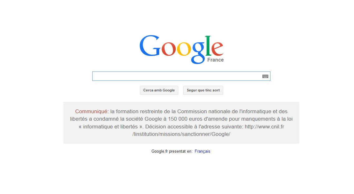 Multa Google - En Medio de la Red
