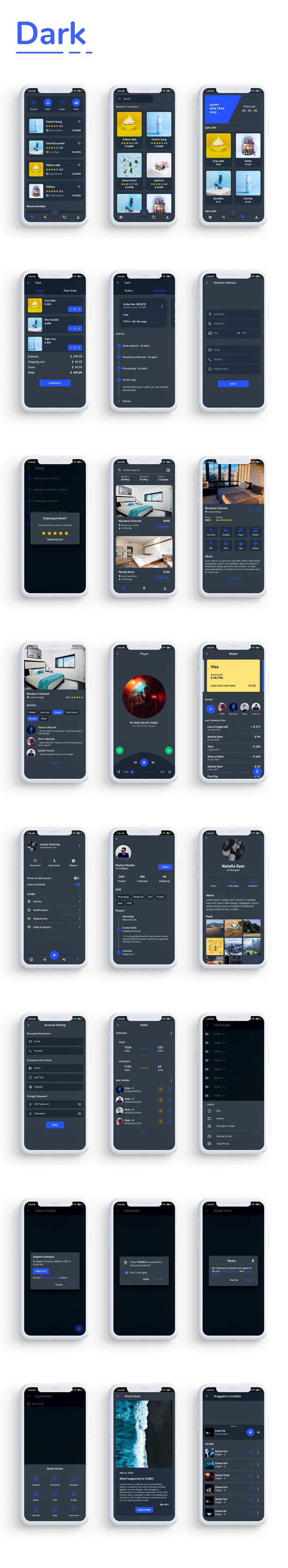 Flutkit - Flutter UI Kit - 15