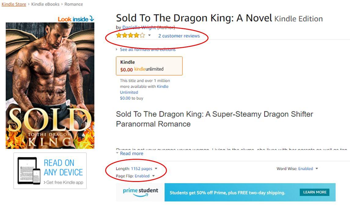 Fake book listing
