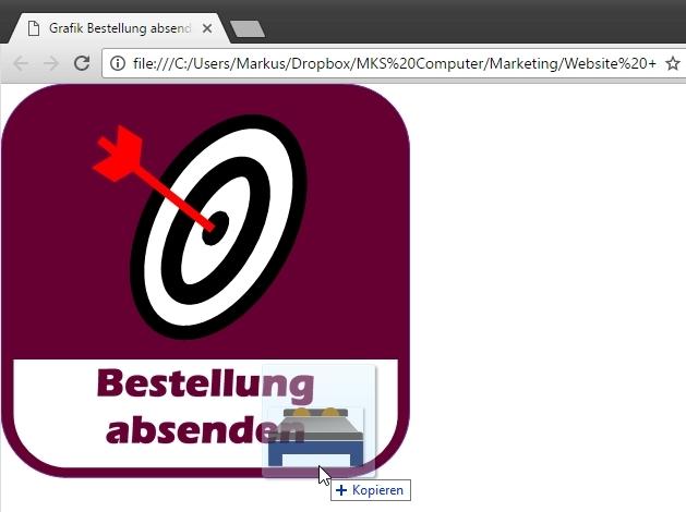 Zieht man Dateien und Web-Links in einen offenen Tab, wird der bisherige Inhalt (im Browser) überschrieben.