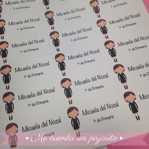 Pegatinas personalizadas para los libros del colegio