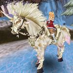 Bílý vznešený kůň