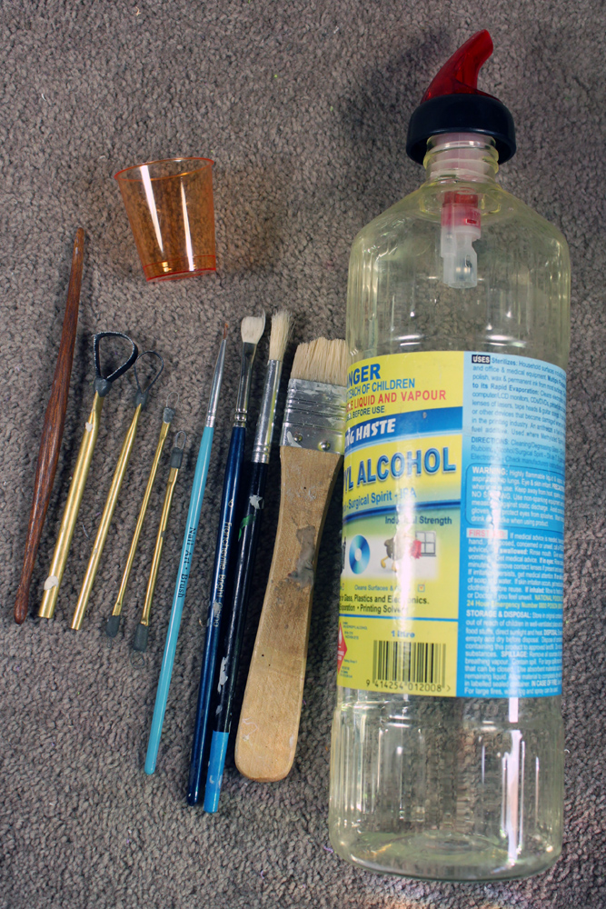 All the tools I use for smoothing my clay sculptures