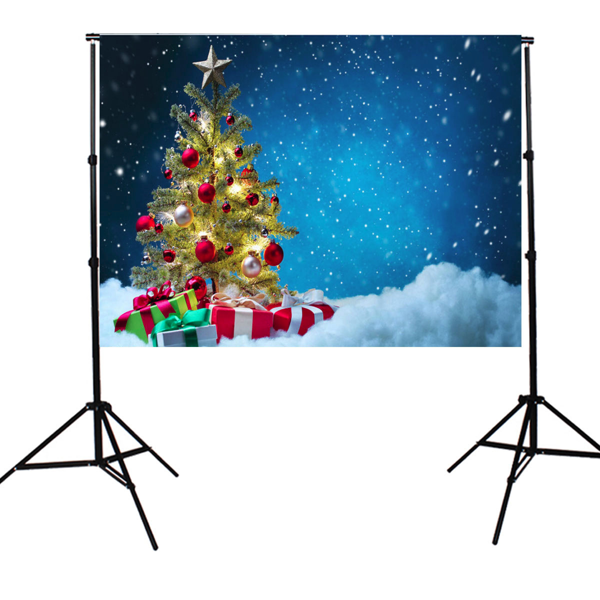 Other Gadgets 7x5ft Christmas Theme Blue Photo Backdrop