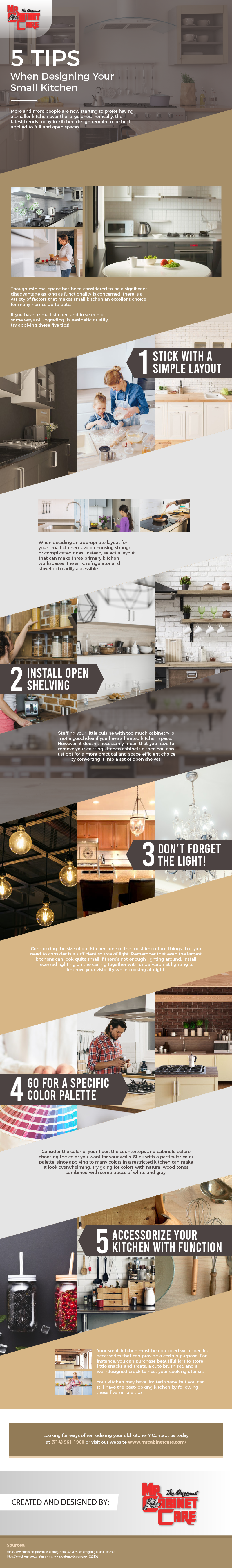 5 Tips When Designing Your Small Kitchen – Infographic