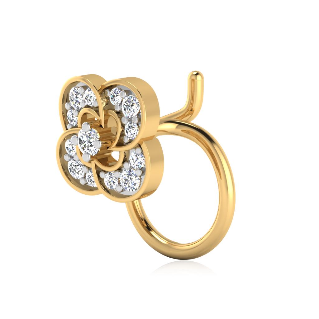 The Nireja Diamond Nose Pin