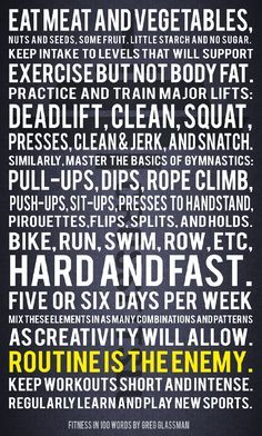 Fitness in 100 words
