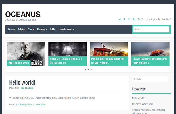 oceanus - free wordpress theme