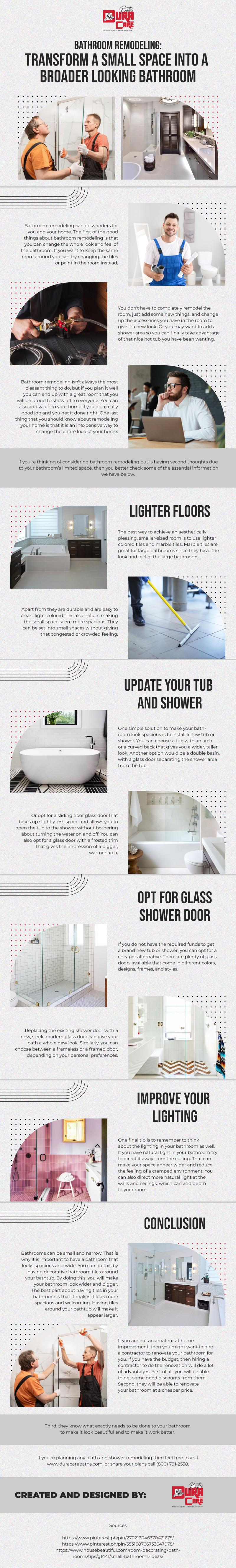 Transform a Small Space into a Broader Looking Bathroom