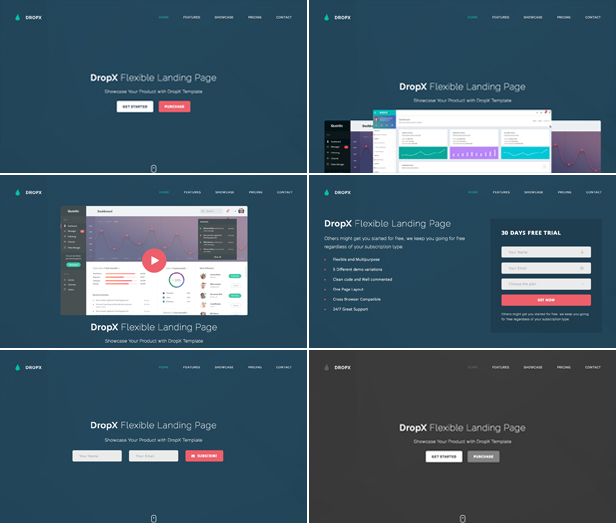 DropX - Multipurpose Flexible Landing Page Template