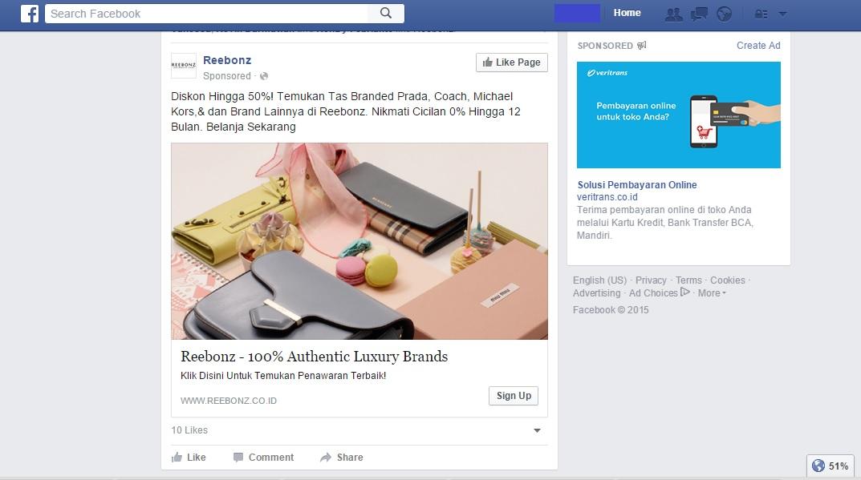 Contoh Facebook Ads
