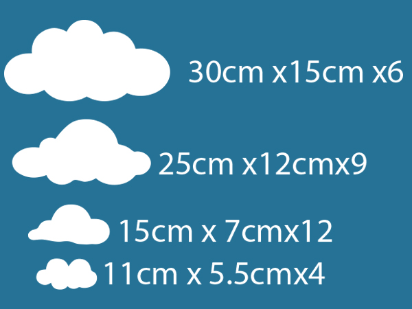 clouds kids nursery wall sticker vinyl decal Australia melbourne