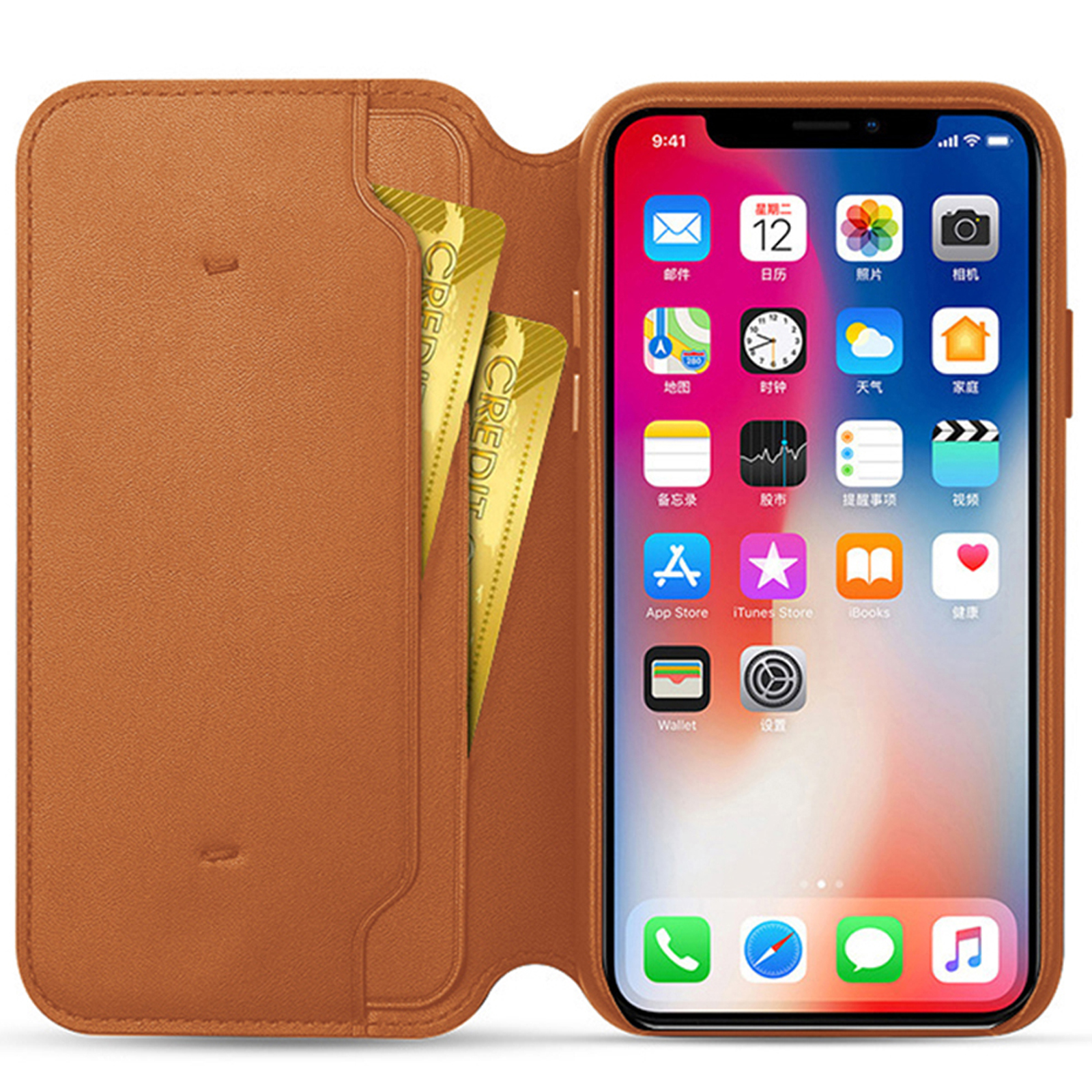 Genuine-Leather-Folio-Flip-Wallet-Case-Cover-For-Apple-iPhone-11-Pro-Max-Xs-8-7 thumbnail 16