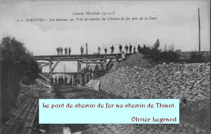 Haspres - Le pont du chemin de fer