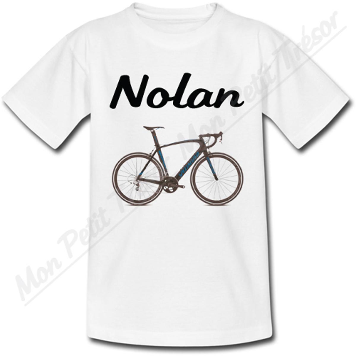 T shirt enfant v lo avec pr nom personnalis ebay - T shirt personnalise photo et texte ...