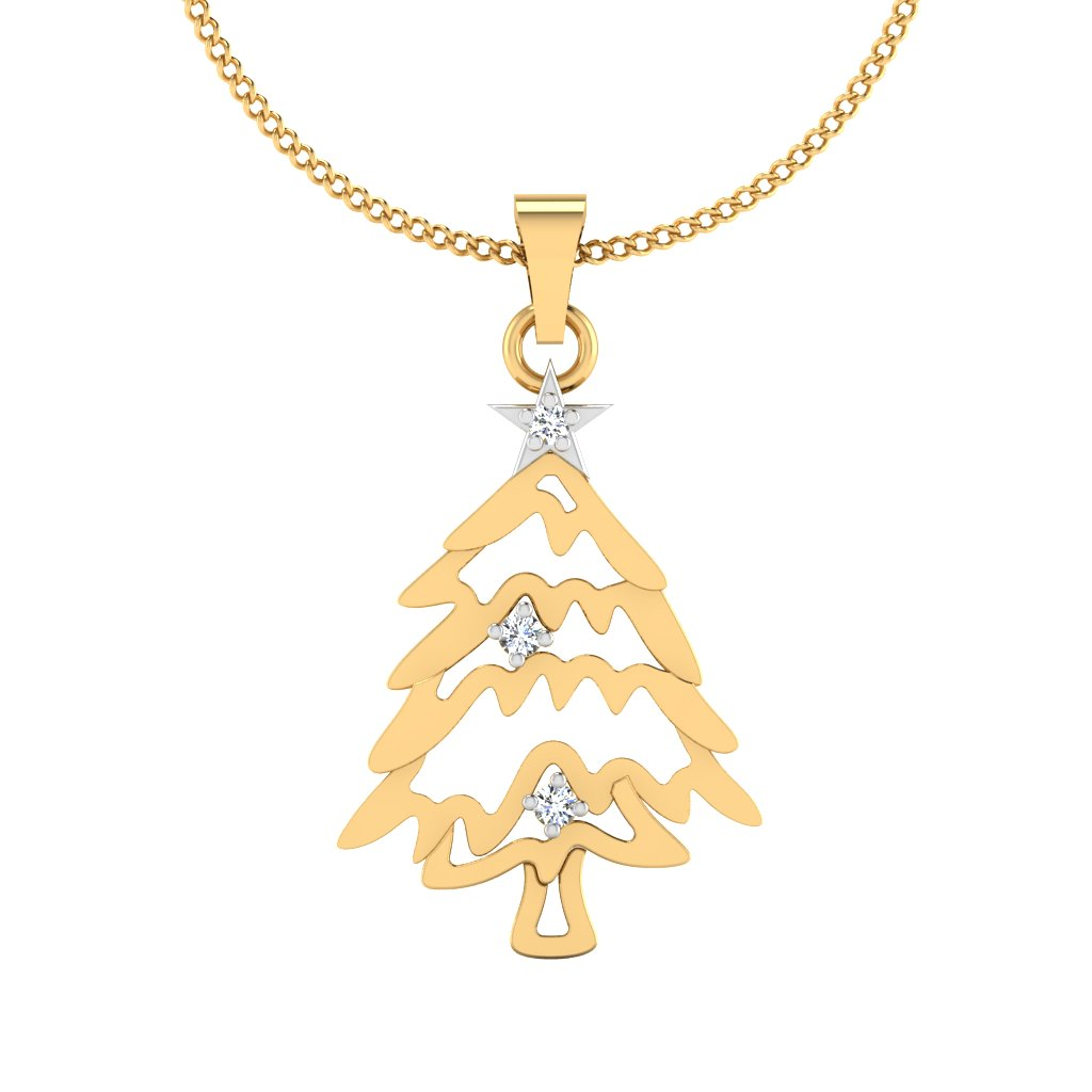 The Ice Tree Diamond Pendant