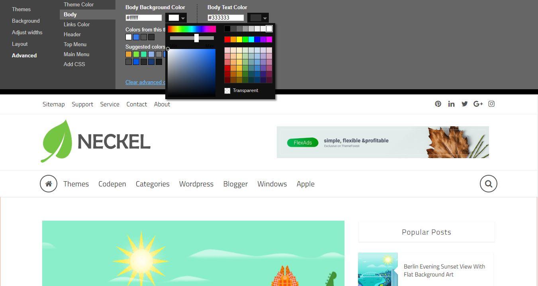 Neckel Blogger Theme