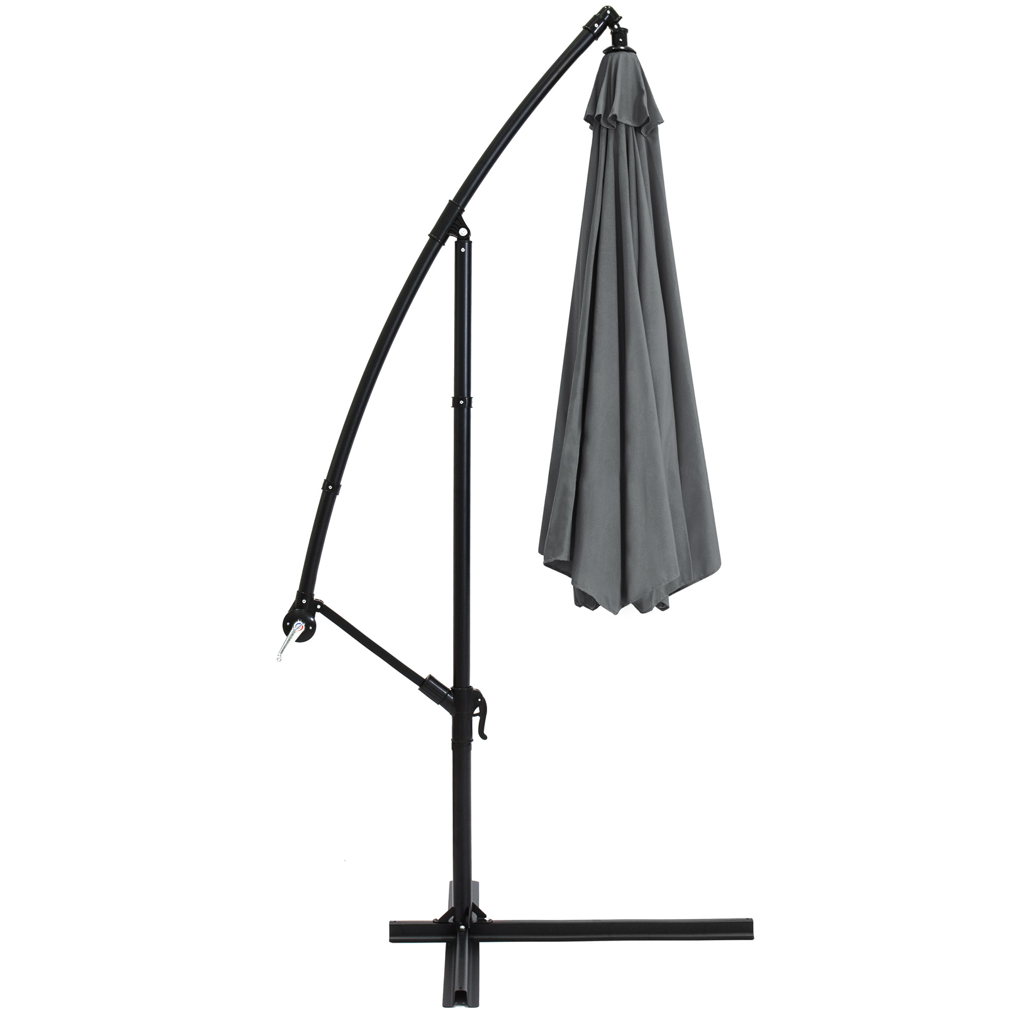 BCP-10ft-Offset-Hanging-Market-Patio-Umbrella-w-Tilt-Adjustment-Hand-Crank thumbnail 27