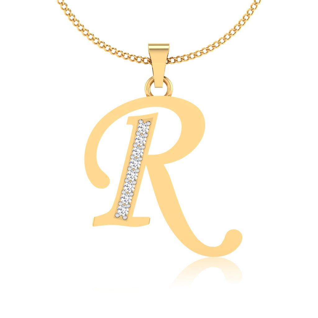 The Classy R Diamond Pendant