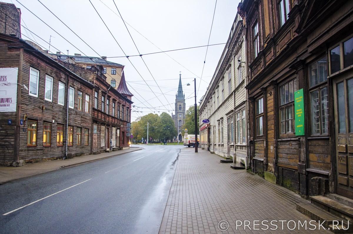 Один из старых районов Риги