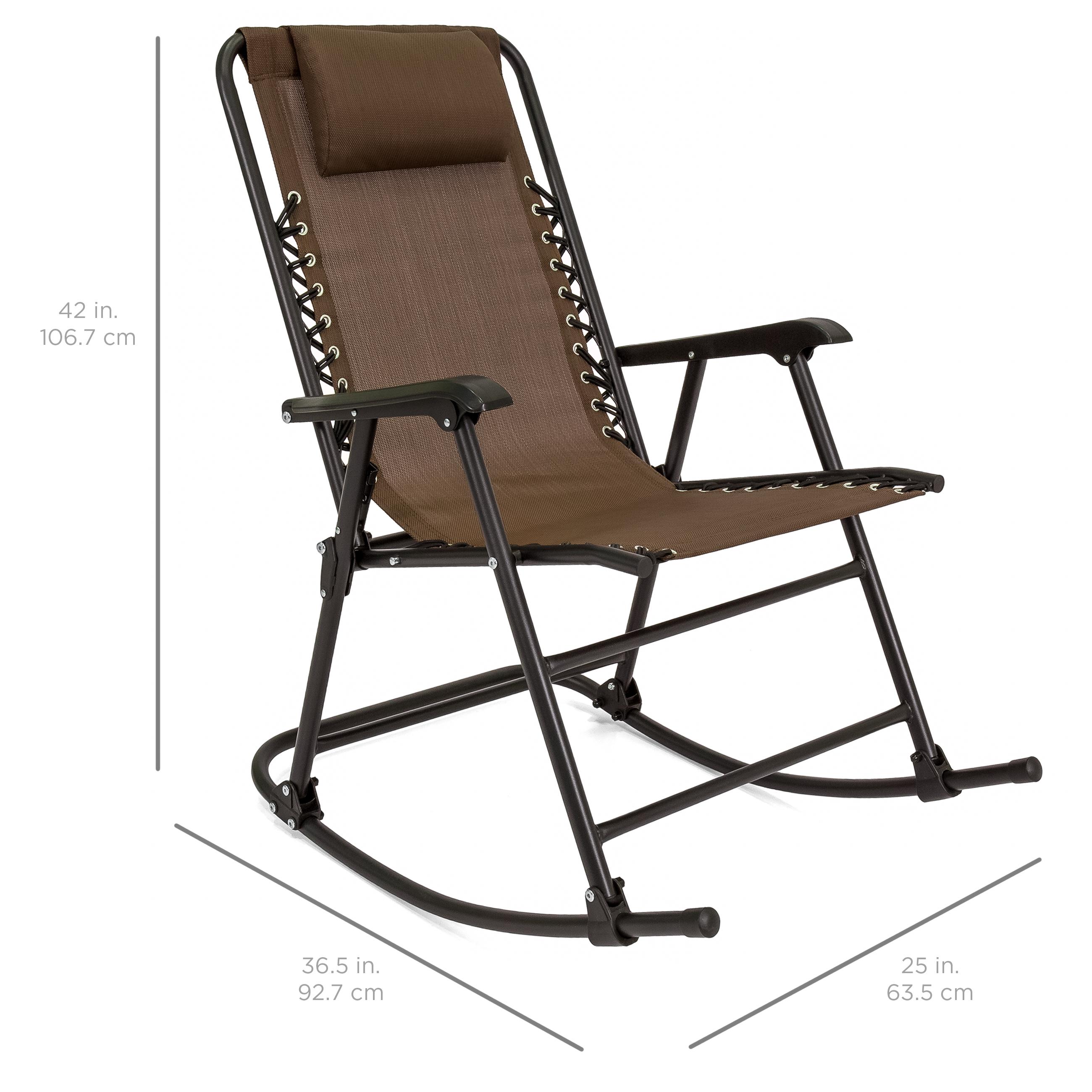 BCP-Foldable-Zero-Gravity-Patio-Rocking-Lounge-Chair thumbnail 35