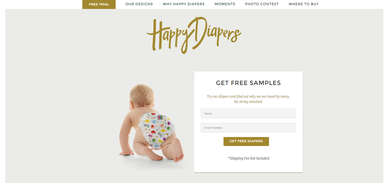 free samples happy diapers