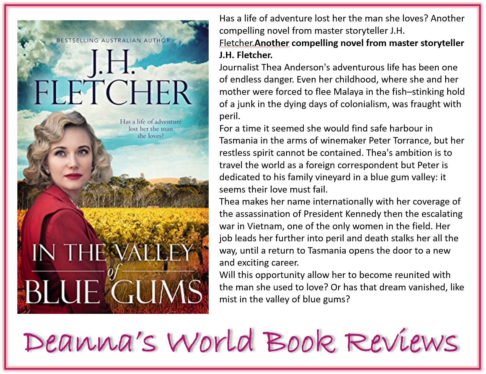 In The Valley of Blue Gums by J H Fletcher blurb