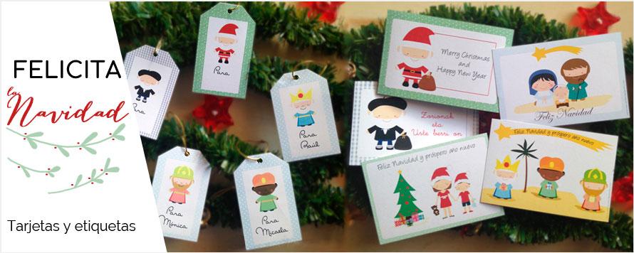 """mecuentaunpajarito tarjetas y etiquetas personalizadas de navidad"""" title="""