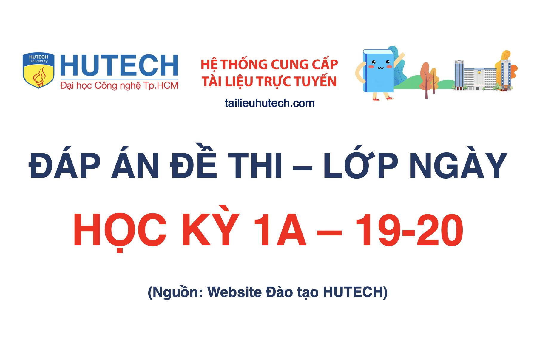 Đáp án HK 1A năm học 2019-2020_Lớp ngày