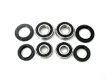 Both Front Wheel Bearings and Seals Kit Suzuki LT250S LT-250S Quad Sport 1989-1990