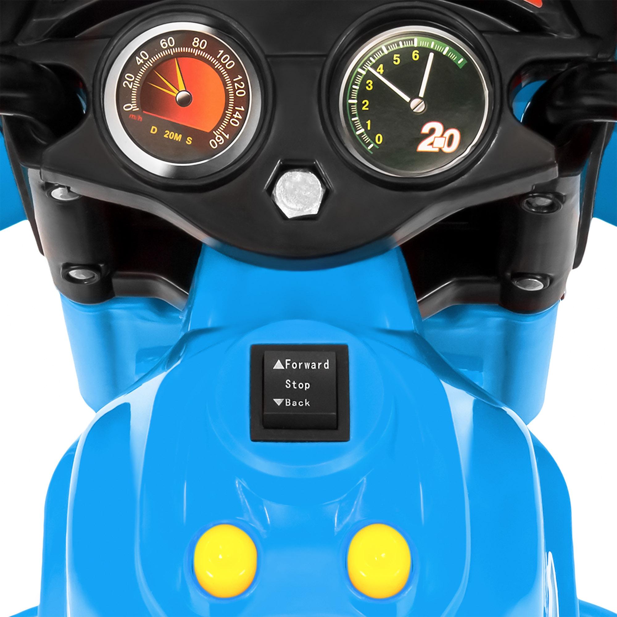 BCP-6V-Kids-3-Wheel-Motorcycle-Ride-On-Toy-w-LED-Lights-Music-Storage thumbnail 18