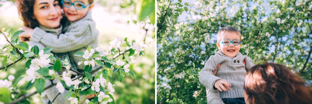 Ввысь - семейная фотосессия в яблонях Северодвинск свадебный фотограф Архангельска