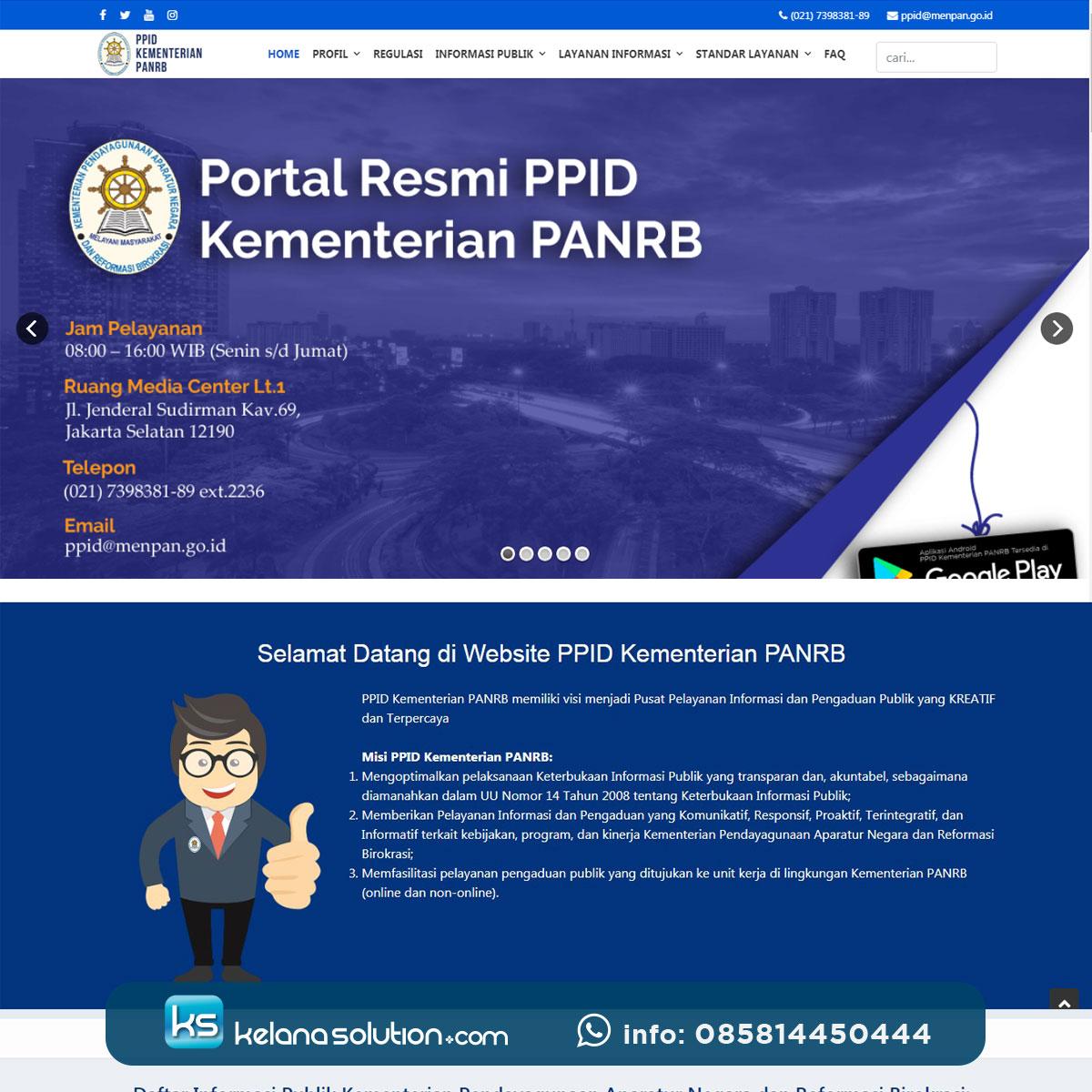 Jasa Pembutan Website e-Government PPID Kementerian PANRB
