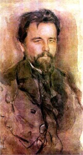 Serov, retrato de A Chekhov