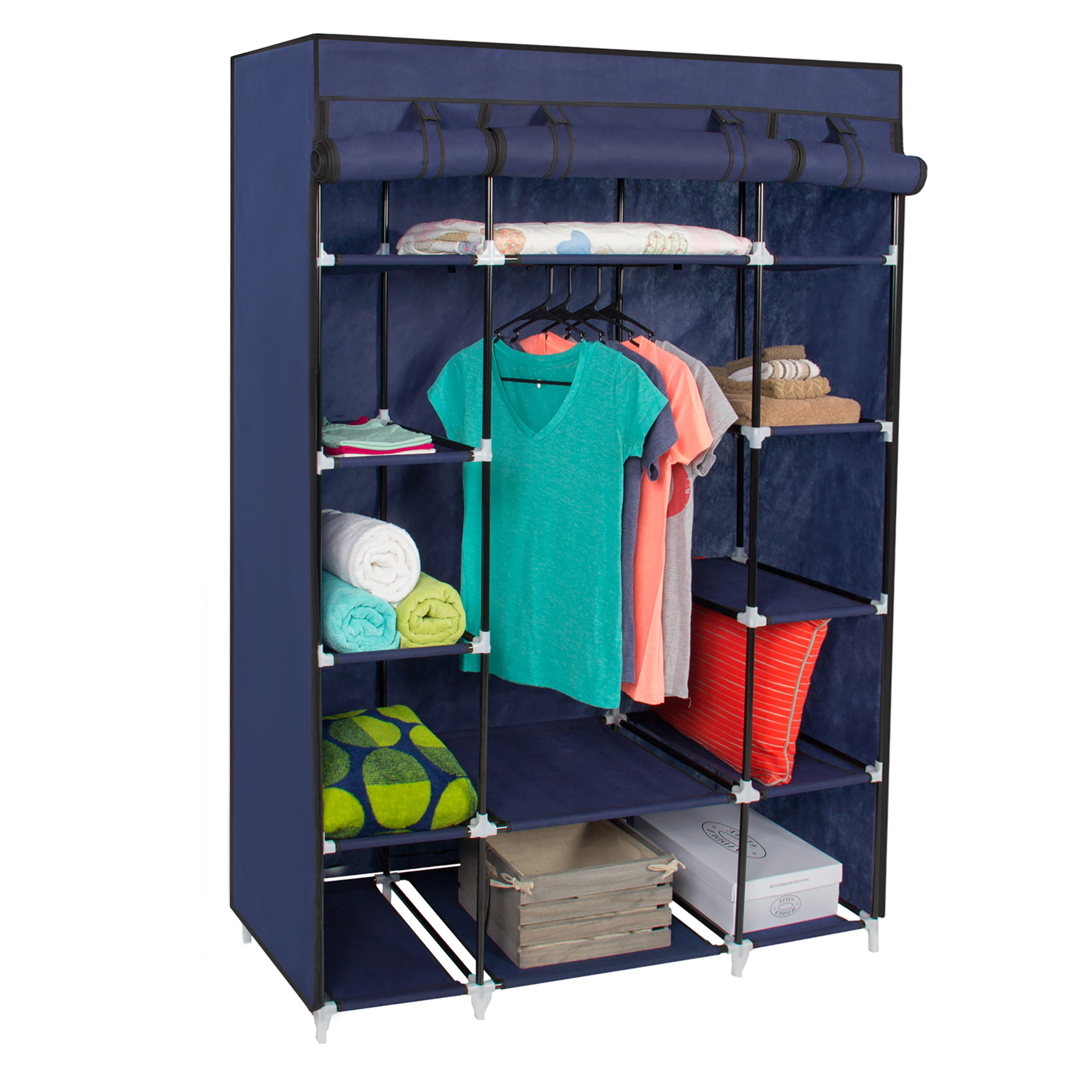 hanging closet organizer portable closet storage cube shelve system hanging with 28901