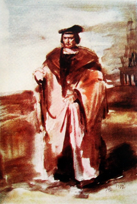 K.Rudakov Hamlet acuarela