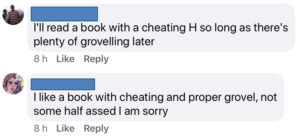 Cheating groveling